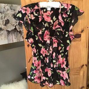 Allison Taylor bow front blouse